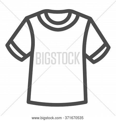 T-shirt Line Icon, Summer Clothes Concept, Unisex Shirt Sign On White Background, Casual T-shirt Ico