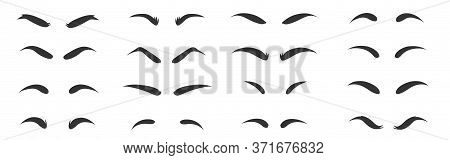 Eyebrows Shapes Set. Eyebrow Shapes. Various Types Of Eyebrows. Eyebrow Shaping For Women.