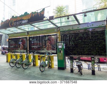 Bangkok Thailand-14 November 2018:bangkok Bicycie City. On Bangkok Thailand-14 November 2018 Images