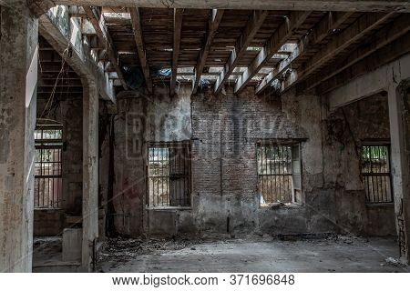 Bangkok, Thailand - Feb 2, 2020 : Abandoned Buildings : Within The Old Customs House Or Old Bang Rak