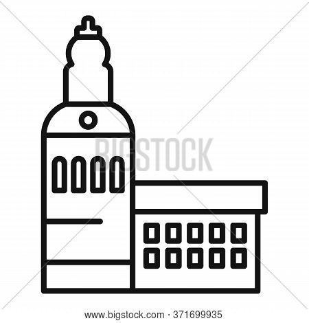 Riga Old Building Icon. Outline Riga Old Building Vector Icon For Web Design Isolated On White Backg