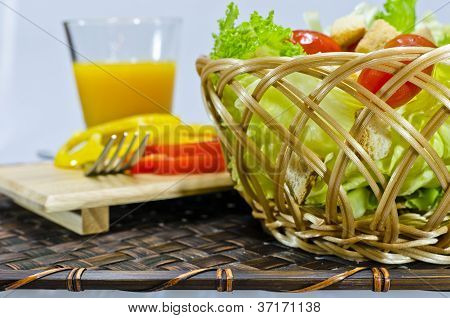 Salad In Basket