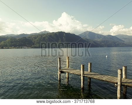 Piemonte, Italy  06/10/2020: Beautiful Caption Of The Lake D\'orta In Summer Days In Piemonte, Italy