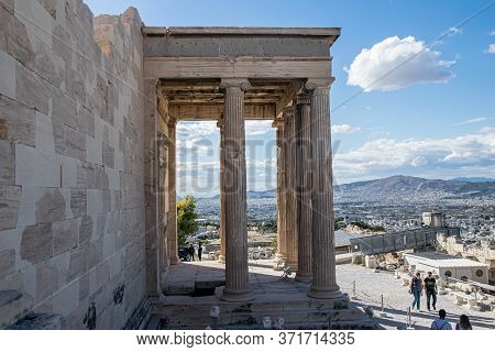 Historical Architecture, Scene From Acropolis, Greece, Athens, 2019
