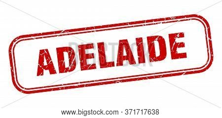Adelaide Stamp. Adelaide Red Grunge Isolated Sign