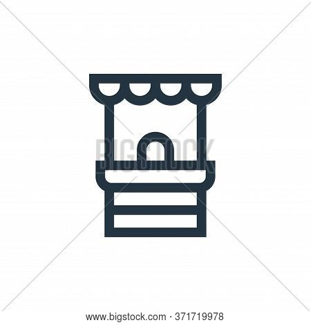 ticket office icon isolated on white background from  collection. ticket office icon trendy and mode