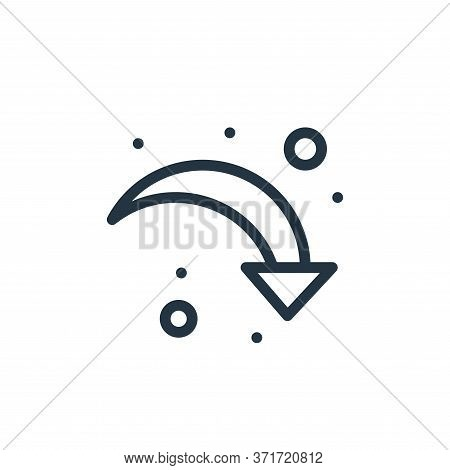 down right arrow icon isolated on white background from  collection. down right arrow icon trendy an