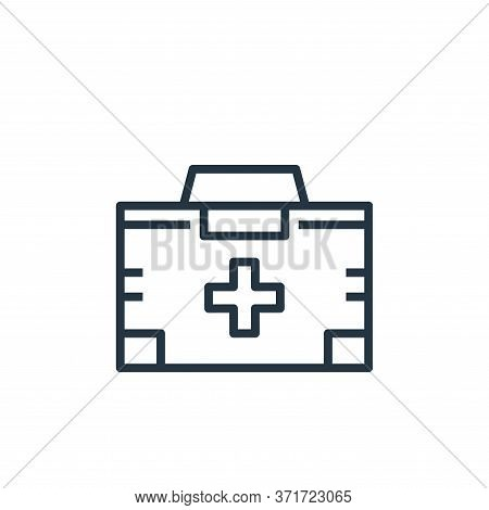 first aid kit icon isolated on white background from  collection. first aid kit icon trendy and mode