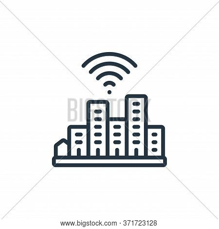 smart city icon isolated on white background from  collection. smart city icon trendy and modern sma