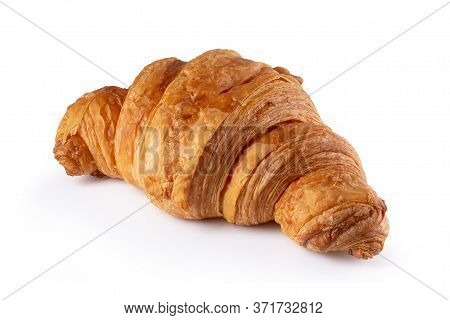 Crispy Croissants Isolated On A White Background.