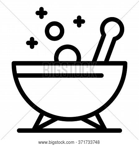 Experiment Bowl Icon. Outline Experiment Bowl Vector Icon For Web Design Isolated On White Backgroun