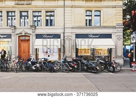 Zurich, Switzerland Circa September, 2019: Luxury Boutique Store On Bahnhofstrasse In Zurich, Switze