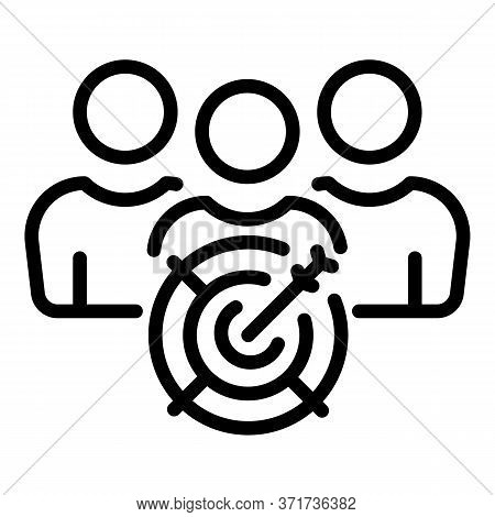 Target Clients Icon. Outline Target Clients Vector Icon For Web Design Isolated On White Background