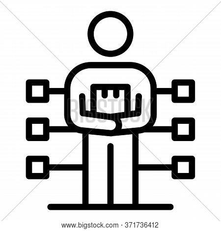 Multitasking Man Icon. Outline Multitasking Man Vector Icon For Web Design Isolated On White Backgro