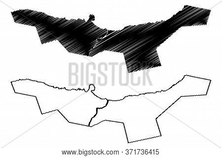 Capital Territory Province (provinces Of Solomon Islands, Solomon Islands, Island) Map Vector Illust