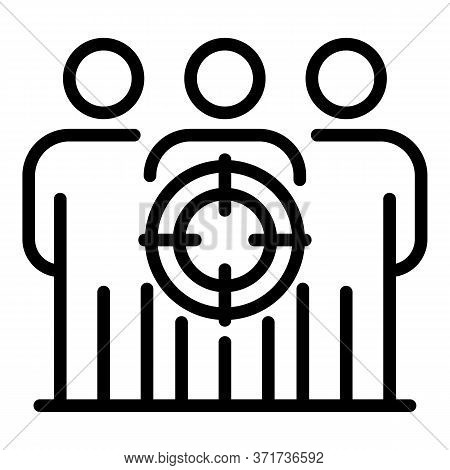 Target Market People Icon. Outline Target Market People Vector Icon For Web Design Isolated On White