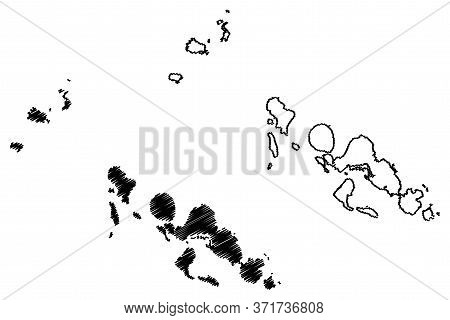 Western Province (provinces Of Solomon Islands, Solomon Islands, Island) Map Vector Illustration, Sc