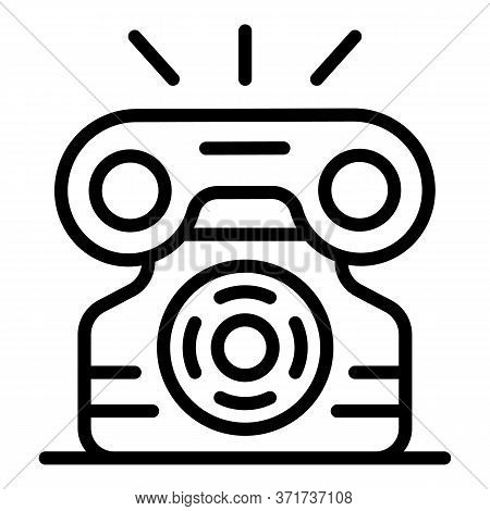 Ringing Telephone Icon. Outline Ringing Telephone Vector Icon For Web Design Isolated On White Backg