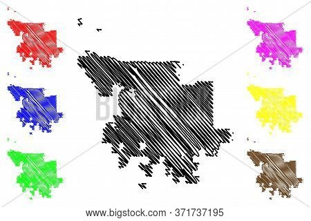 Olathe City, Kansas (united States Cities, United States Of America, Usa City) Map Vector Illustrati