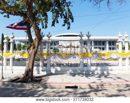 The Thailand Parliament Building Bangkok Thailand-31 December 2018:the Thai Parliament Building Has