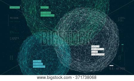 Three Databases, Data Analysis And Sorting, Digital Information Field, High Technology Vector Illust