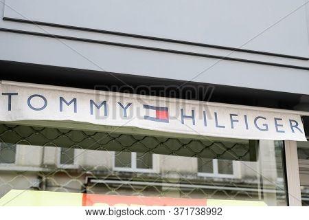 Bordeaux , Aquitaine / France - 02 15 2020 : Tommy Hilfiger Logo Store Premium American Clothing Com