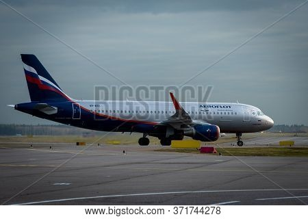 October 29, 2019, Moscow, Russia. Plane  Airbus A320-200 Aeroflot - Russian Airlines At Sheremetyevo