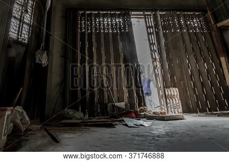 Bangkok, Thailand - Jan 19, 2020 : Within Abandoned House Was Left To Deteriorate Over Time, Chinese