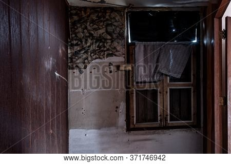 Bangkok, Thailand - Jan 19, 2020 : Abandoned Room With Window Was Left To Deteriorate Over Time, Aba