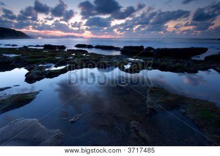 Reflect In The Beach Of Azkorri In Getxo