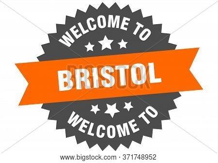 Bristol Sign. Welcome To Bristol Orange Sticker