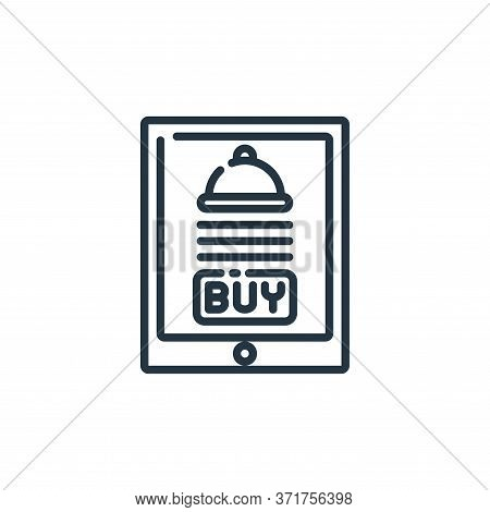 food delivery icon isolated on white background from  collection. food delivery icon trendy and mode