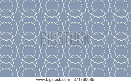 Waving Interlacing Blue Abstract Repeated Pattern. Vector Seamless Pattern Design For Textile, Wrapp