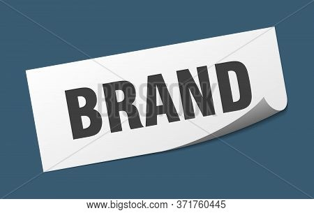 Brand Sticker. Brand Square Sign. Brand. Peeler