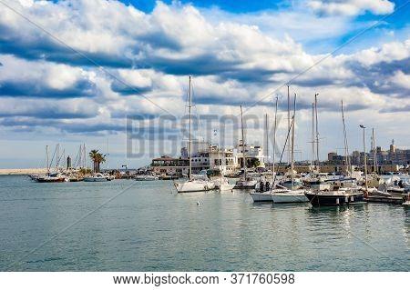 Seaport. Panoramic View Of Bari. Puglia. Italy.