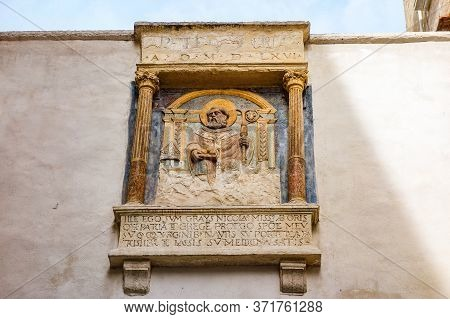 Detail Of A Votive Aedicule Of Bari. Puglia. Italy.