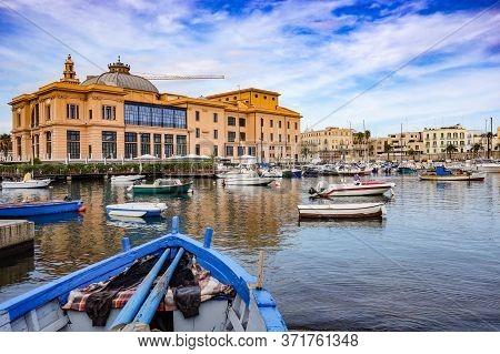 Margherita Theatre. Panoramic View Of Bari. Puglia, Italy.