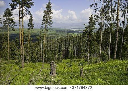 Scenery Looking At The Liptov Basin From Demanovska Mountain.