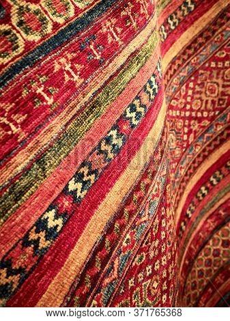 Oriental Traditional Handmade Rug Close-up In Bosnia