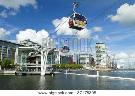 Visitors Travel On The Emirates Cable Car