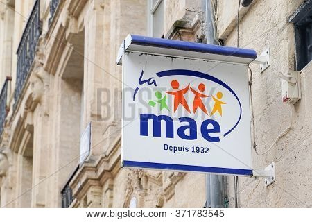 Bordeaux , Aquitaine / France - 06 01 2020 : Mae Logo Store Sign Of French Multinational Insurance I