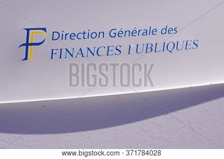 Bordeaux , Aquitaine / France - 05 14 2020 : Direction Generale Des Finances Publiques Logo Taxes Of