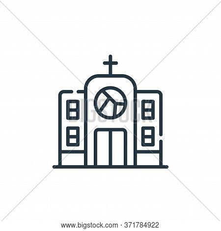 church icon isolated on white background from  collection. church icon trendy and modern church symb