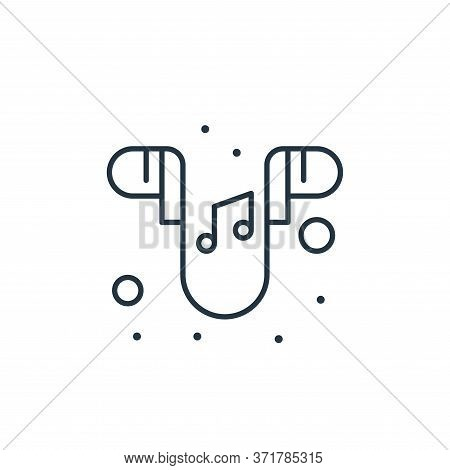 earphones icon isolated on white background from  collection. earphones icon trendy and modern earph