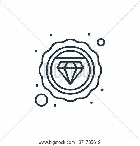 diamond icon isolated on white background from  collection. diamond icon trendy and modern diamond s