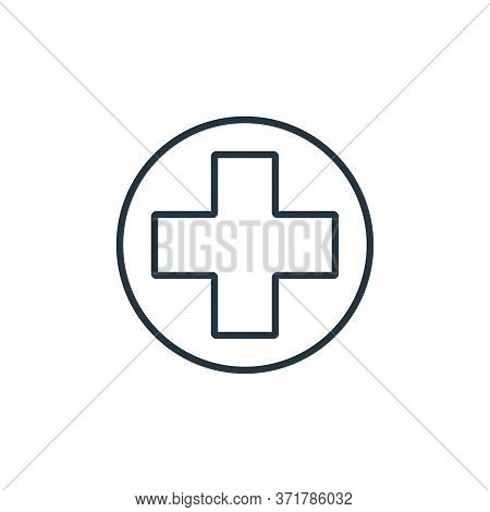 red cross icon isolated on white background from  collection. red cross icon trendy and modern red c