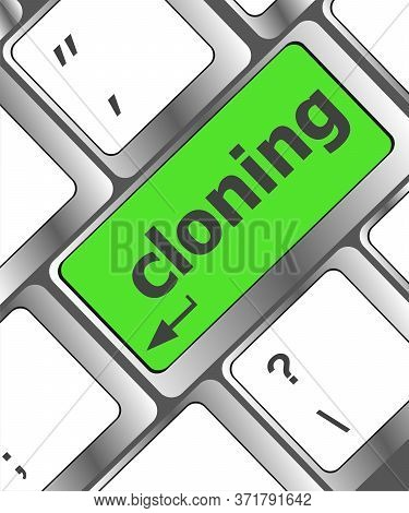 Cloning Keyboard Button On Computer Pc. Laptop Icon
