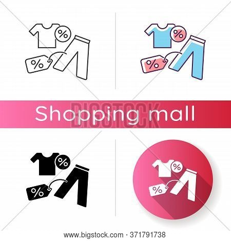 Outlet Icon. Cheap Garment Buying. Trendy Brand Clothes Low Price. Shopping Mall Products Sale. Appa
