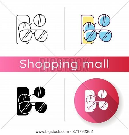 Sunglasses Icon. Male And Female Stylish Eyewear. Men And Women Fashionable Accessories. Summer Glas