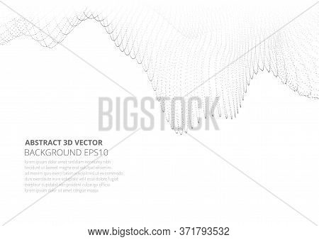 Abstract Background With Many Particles. Copy Space For Text.